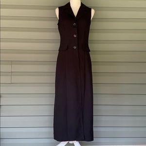 BREAKIN LOOSE Black Vintage Long Duster Vest